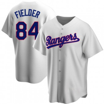 Replica Texas Rangers Prince Fielder Home Cooperstown Collection Jersey - White