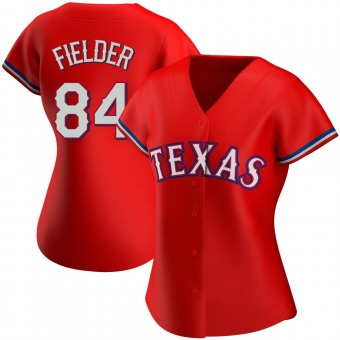 Women's Authentic Texas Rangers Prince Fielder Alternate Jersey - Red