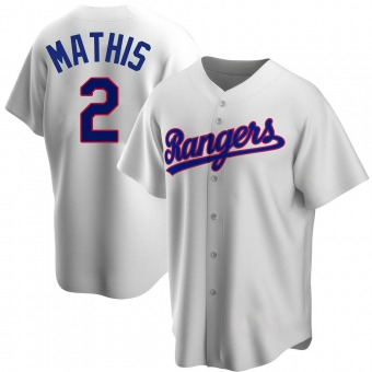 Youth Replica Texas Rangers Jeff Mathis Home Cooperstown Collection Jersey - White