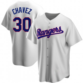 Youth Replica Texas Rangers Jesse Chavez Home Cooperstown Collection Jersey - White