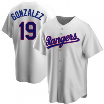 Youth Replica Texas Rangers Juan Gonzalez Home Cooperstown Collection Jersey - White