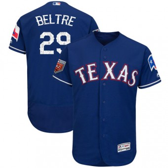Youth Authentic Texas Rangers Adrian Beltre Majestic Flex Base 2018 Spring Training Jersey - Royal