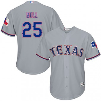 Youth Authentic Texas Rangers Buddy Bell Majestic Cool Base Road Jersey - Gray
