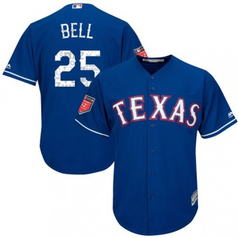 Youth Replica Texas Rangers Buddy Bell Majestic Cool Base 2018 Spring Training Jersey - Royal